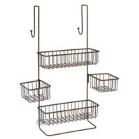 iDesign® Metalo Over-the-Door Shower Caddy in Bronze