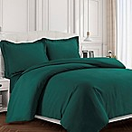 Tribeca Living Valencia Solid King Duvet Cover Set in Teal