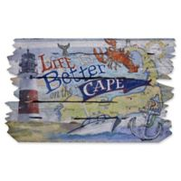 """""""Life is Better at the Cape"""" 30-Inch x 18.5-Inch Door Mat"""
