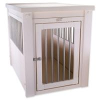 InnPlace II™ Medium Pet Crate and End Table in Antique White