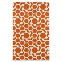 Kaleen Revolution 9-Foot 6-Inch x 11-Foot Area Rug in Orange
