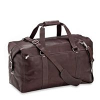 Piel® Leather 22-Inch Zip Pocket Duffle Bag in Chocolate