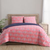 Clairebella™ Dreamcatcher Full/Queen Duvet Cover Set in Aqua/Pink