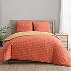 Clairebella Geometric Reversible Twin/Twin XL Duvet Cover Set in Yellow/Orange