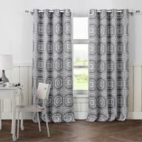 Petra 84-Inch Grommet Top Room Darkening Window Curtain Panel Pair in Grey