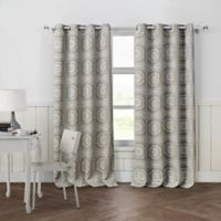Petra 84-Inch Grommet Top Room Darkening Window Curtain Panel Pair in Taupe