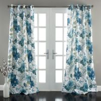Lush Décor Floral Paisley 84-Inch Room Darkening Window Curtain Panel Pair in Blue