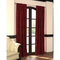 Designers' Select™ 95-Inch Emerson Rod Pocket/Back Tab Window Curtain Panel in Merlot