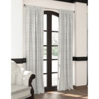 Designers' Select™ 108-Inch Emerson Rod Pocket/Back Tab Window Curtain Panel in Silver