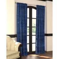 Designers' Select™ 95-Inch Emerson Rod Pocket/Back Tab Window Curtain Panel in Navy