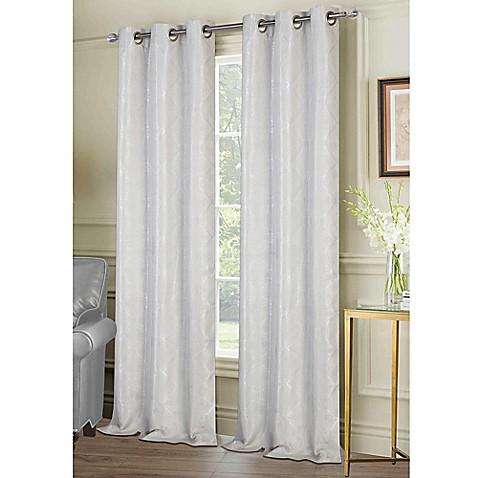 ellen tracy melbourne 84-inch grommet window curtain panel