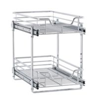 Household Essentials® Glidez 11.5-Inch 2-Tier Sliding Cabinet Organizer