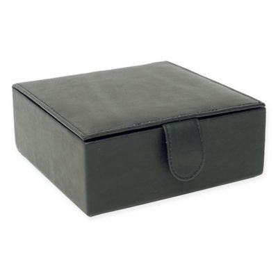 Piel Leather Small Gift Box in Black  sc 1 st  Bed Bath u0026 Beyond & Buy Black Leather Storage Box from Bed Bath u0026 Beyond