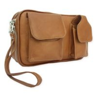 Piel Leather® 9.5-Inch Classic Carry-All Bag in Saddle
