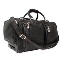 Piel Leather® Classic 20-Inch Rolling Duffel in Black