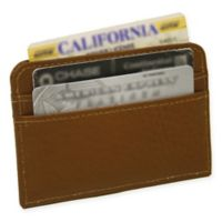 Piel Leather® Classic Slim Business Card Case in Saddle