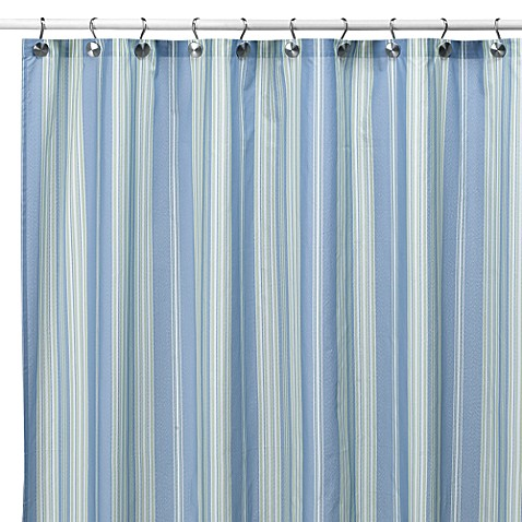 Baja Stripe Cape Cod Fabric Shower Curtain