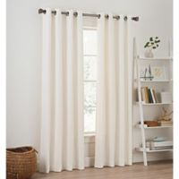Priella 84-Inch Grommet Top Window Curtain Panel in White