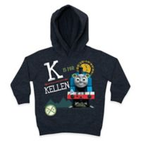 """Thomas the Tank Engine Size 2T Blackboard Style """"Is For"""" Pullover Hoodie in Grey"""