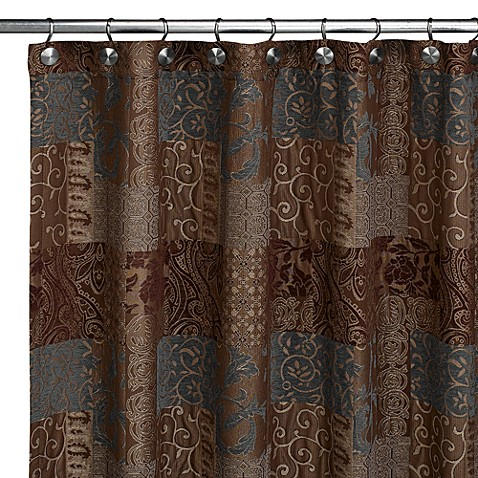 Galleria Fabric Shower Curtain by Croscill - Bed Bath & Beyond