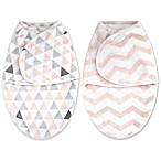 Blankets & Beyond 2-Pack Size 3-6M Swaddle Blankets in Pink Prints