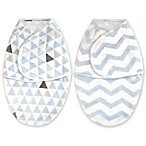 Blankets & Beyond 2-Pack Size 0-3M Swaddle Blankets in Blue Prints