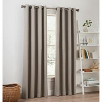 Priella 63-Inch Grommet Top Window Curtain Panel in Stone