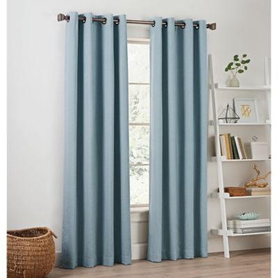 Priella 63 Inch Grommet Top Window Curtain Panel In Chambray