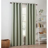 Priella 84-Inch Grommet Top Window Curtain Panel in Seaglass