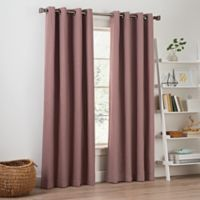 Priella 95-Inch Grommet Top Window Curtain Panel in Berry