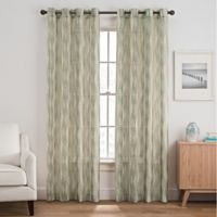 Weston Harlequin 63-Inch Grommet Top Window Curtain Panel in Stone