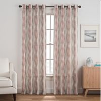 Weston Harlequin 95-Inch Grommet Top Window Curtain Panel in Berry