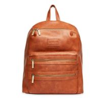 Honest City Backpack Diaper Bag in Cognac
