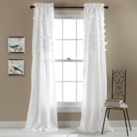Avery 84-Inch Rod Pocket Window Curtain Panel Pair in White