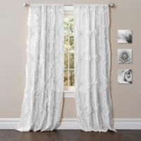 Avon 84-Inch Rod Pocket Window Curtain Panel in White