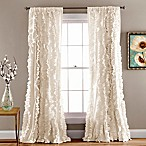 Lush Décor Belle 84-Inch Rod Pocket Window Curtain Panel in Ivory