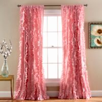 Belle 84-Inch Rod Pocket Window Curtain Panel in Pink