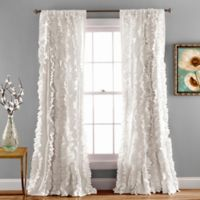 Belle 84-Inch Rod Pocket Window Curtain Panel in White