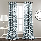 Lush Décor Edward Trellis 84-Inch Grommet Top Room Darkening Window Curtain Panel Pair in Blue