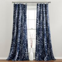Forest 84-Inch Rod Pocket Room Darkening Window Curtain Panel Pair in Navy