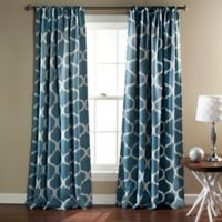 Geo 84-Inch Rod Pocket Blackout Window Curtain Panel Pair in Blue