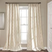Geo Trellis 84-Inch Rod Pocket Window Curtain Panel Pair in Linen