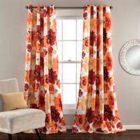 Leah 84-Inch Grommet Top Room Darkening Window Curtain Panel Pair in Red/Orange