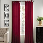 Newport 84-Inch Grommet Window Curtain Panel in Red