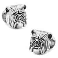 Ox & Bull Sterling Silver 3D Bulldog Cufflinks