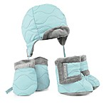 JJ Cole® 5-Piece Bomber Hat, Mitten, and Boot Set in Aqua