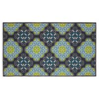 Olivia Structures 2-Foot 2-Inch x 3-Foot 9-Inch Accent Rug in Blue/Green