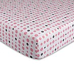 Lolli Living™ Mod Pink Dots Fitted Crib Sheet