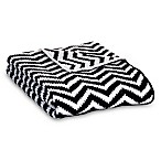 Lolli Living™ Mod Chevron Chenille Stroller Blanket in Black