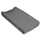 Lolli Living™ Mod Striped Changing Pad Cover in Black
